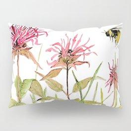 Flowers Bee Balm Pink Garden Wildflowers Nature Art Pillow Sham