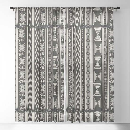 Boho Mud cloth (Black and White) by roxygart