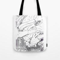 introvert Tote Bags featuring Wild Introvert by BERLIN_D_P