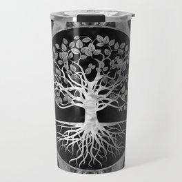Tree of life - Gray scale Gemstone Travel Mug