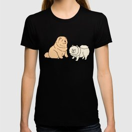 Chow Chow Dog Couple T-shirt