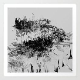 Alyeska in Monochrome no. 7 Art Print
