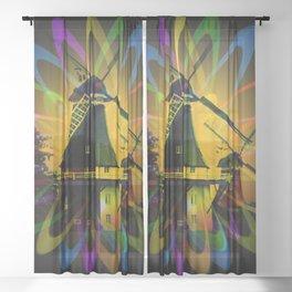 Windmills - Greetsiel Sheer Curtain