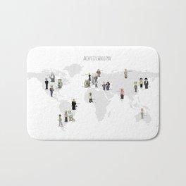 Architects world map Bath Mat