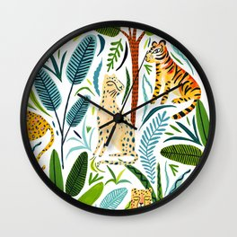 Jungle Cats Wall Clock
