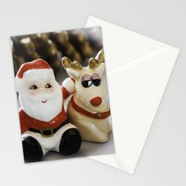 Santa and Rudolph Stationery Cards