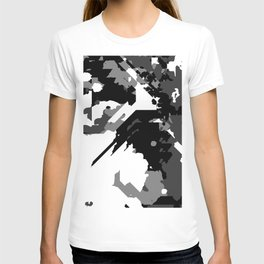 Black Gray and White Abstract T-shirt