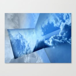 Tinkering Blue Canvas Print