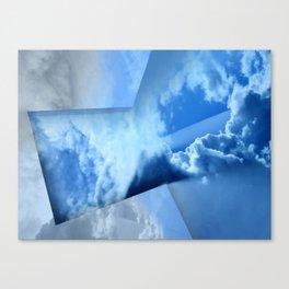 Tinkering Blue Canvas Print
