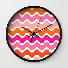 Wiggling Rainbows Wall Clock