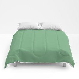 Solid Color Freyja Green Comforters