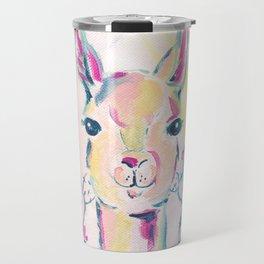 Llama in Cactus Abstract Travel Mug