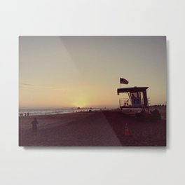 SUNSETS WITH HER VIII (VINTAGE) Metal Print
