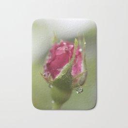 Rose Bud after Rainfall Bath Mat