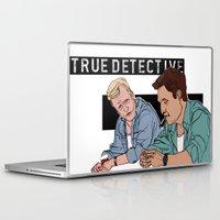 true detective Laptop & iPad Skins featuring True Detective Fan Art by Vito Fabrizio Brugnola