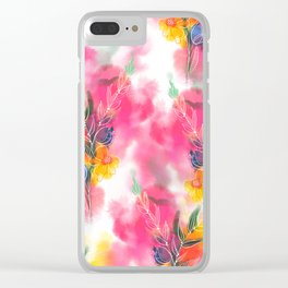 Spring stems watercolour Clear iPhone Case