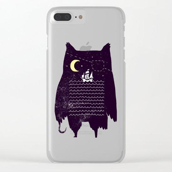 Pirate owl Clear iPhone Case