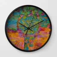 virgo Wall Clocks featuring Virgo by Fernando Vieira