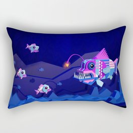 Anglerfish, lie and bioluminescence Rectangular Pillow