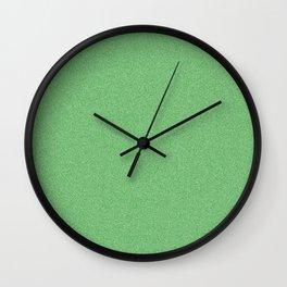 Dense Melange - White and Green Wall Clock