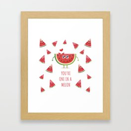 You're one in a melon Framed Art Print