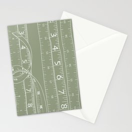 Fashion Measuring Tape - Sage Stationery Cards