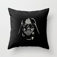 vader Throw Pillows featuring Vader by WaXaVeJu