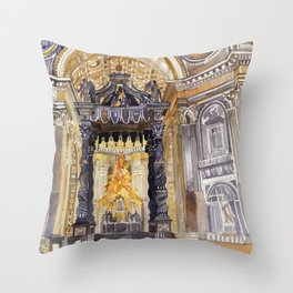 Saint Peter interior Throw Pillow