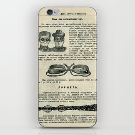 Vintage Page: Car Glasses iPhone Skin