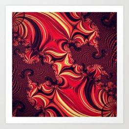 iDeal - FractalRed Art Print