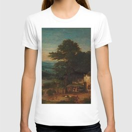 Cornelis Massijs - Landschap met herberg en boeren T-shirt