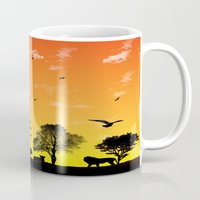 safari Mugs featuring Safari by Kaitlynn Marie