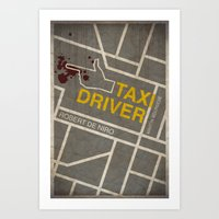 taxi driver Art Prints featuring Taxi Driver by Jacob Wise