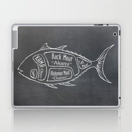 Tuna Butcher Diagram (Seafood Meat Chart) Laptop & iPad Skin