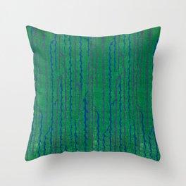 Vintage woodblock print of Japanese textile from Shima-Shima (1904) by Furuya Korin 34 Throw Pillow