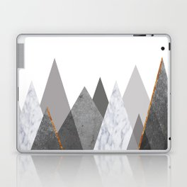 Marble Gray Copper Black and White Mountains Laptop & iPad Skin