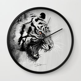 Tiger - The king of the jungle Wall Clock