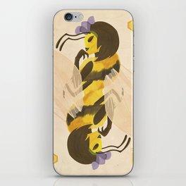 Print: Queen (Bee) of Clubs iPhone Skin