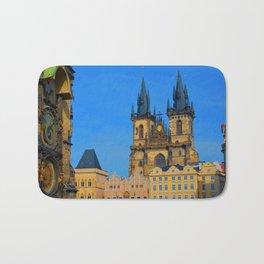 Prague Astronomical Clock Bath Mat