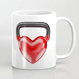 Kettlebell heart vinyl / 3D render of heavy heart shaped kettlebell Coffee Mug