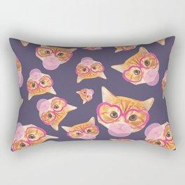 Bubblegum Cat Rectangular Pillow
