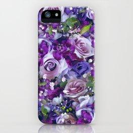 Romantic flowers III iPhone Case