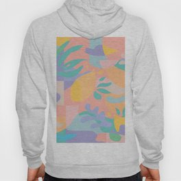 Lemons in Amalfi / Abstract shapes, Pink, Turquoise, Yellow, Lavender Hoody