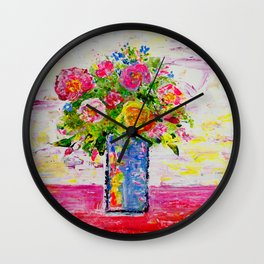 Posy of Flowers 1 Wall Clock