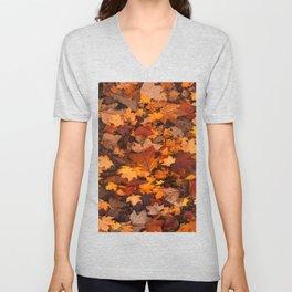 Fall Foliage Unisex V-Neck