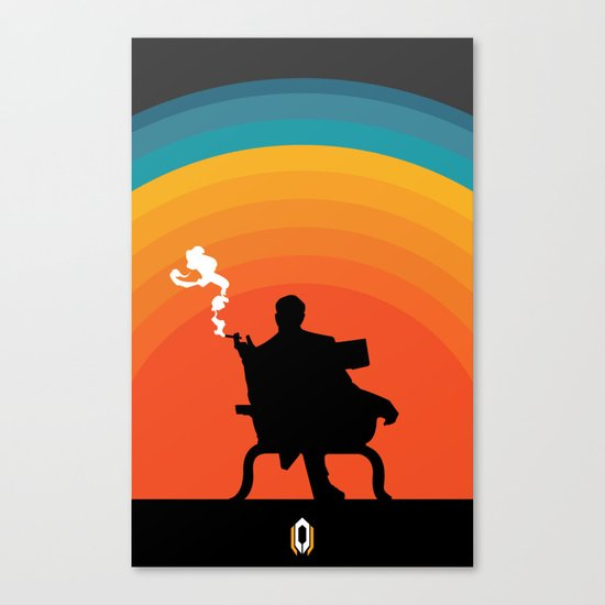 The illusive man Canvas Print