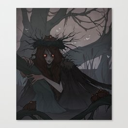 Drawlloween Swamp Thing Canvas Print