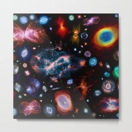 Nebulas — mashups Metal Print