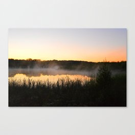 Sunsets and Steam Canvas Print