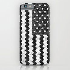 Black Zig Zag Flag Slim Case iPhone 6s